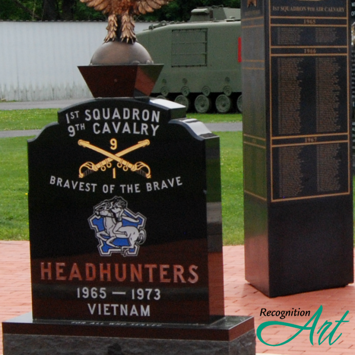 9th Cavalry Permanent Outdoor Freestanding Corian Display by RecognitionArt