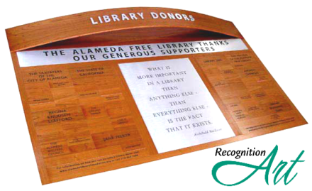 Alameda Free Library Wood Display by RecognitionArt