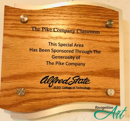 Alfred State Wood and Metal Plaque by RecognitionArt
