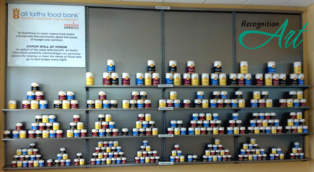 All Faiths Food Bank Food Can Display by RecognitionArt