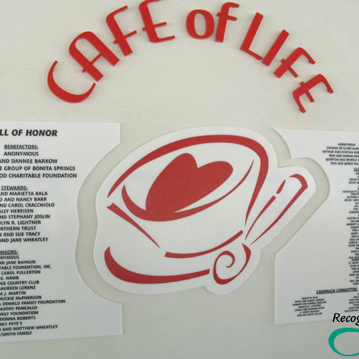 Cafe of Life Corian Display by RecognitionArt