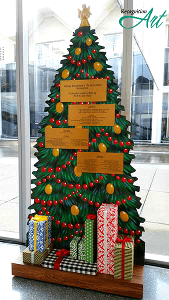 Christmas Tree Themed Holiday Fundraiser Display by RecognitionArt