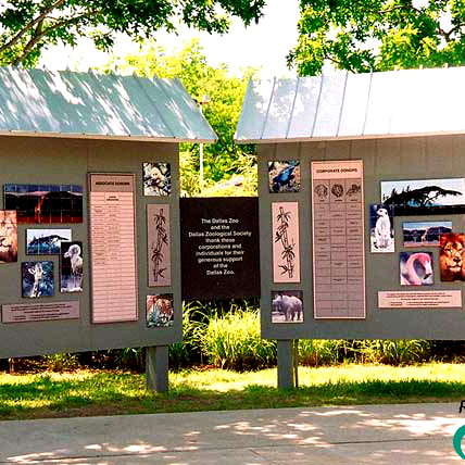 Dallas Zoo Outside Corian Display by RecognitionArt