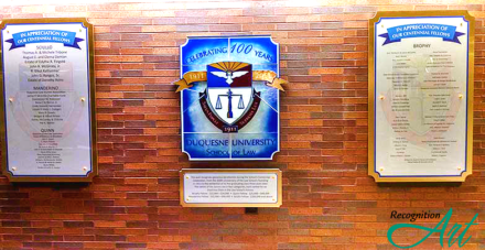 Duquesne University School of Law Changeable Display by RecognitionArt
