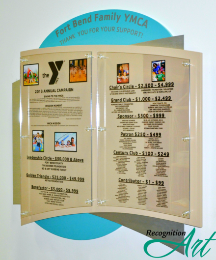 Fort Bend YMCA Abstract Changeable Panel Display by RecognitionArt