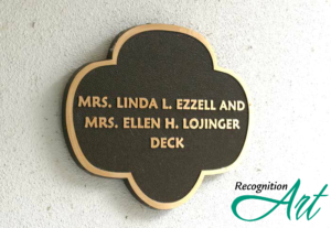 Girl Scouts of Gulfcoast Bronze Trefoil Room Naming Plaque by RecognitionArt