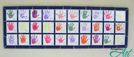 Girl Scouts of Gulfcoast Handprint Tiles Display by RecognitionArt