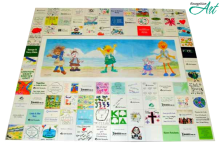 Girl Scouts of San Diego Expression Tile Display Close Up by RecognitionArt