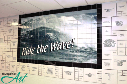Holy Name High School ExpressionArt Tile Wave Mural by RecognitionArt