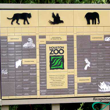 Houston Zoo Corian Display by RecognitionArt