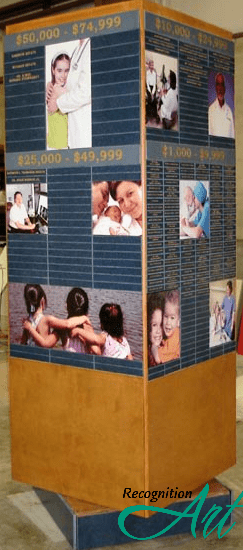 Huron Medical Center Freestanding Rotating Display by RecognitionArt (shop)