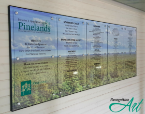 Pinelands Five Changeable Plexiglas Display with Photo Backer by RecognitionArt