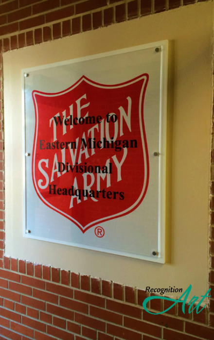 Salvation Army Headquarters Changeable Covered Outdoor Plaque by RecognitionArt