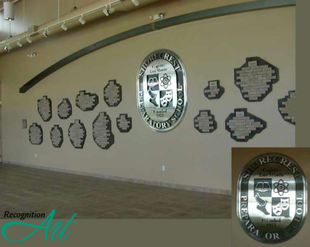 Shorecrest Preparatory School FL Outdoor Corian and Metal Display by RecognitionArt