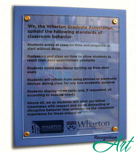 Wharton UPenn Changeable Plaque by RecognitionArt